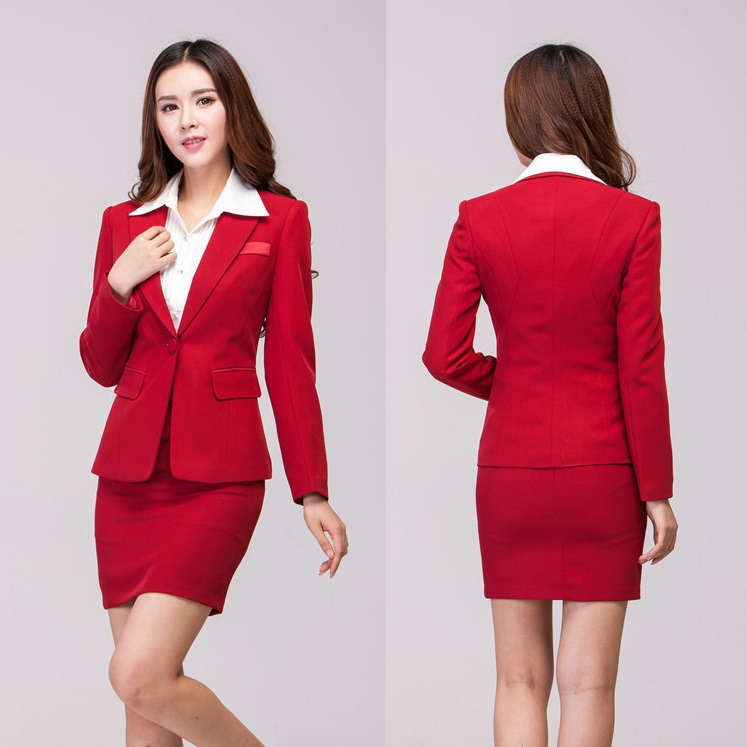 autumn winter formal skirt suits for work