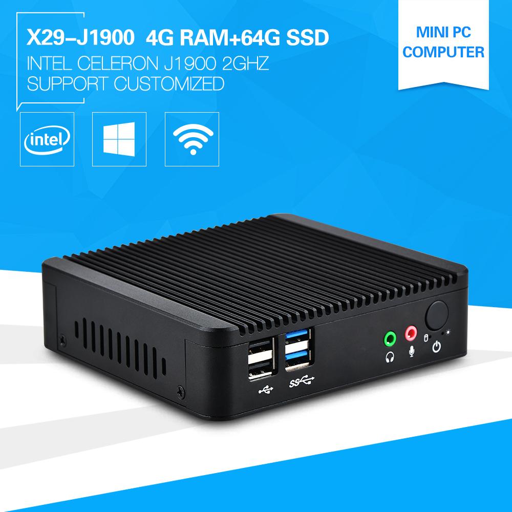 XCY Cheap Server Computer Quad Core Factory Competitive Price CPU Celeron J1900 4G RAM 64G SSD Durable Efficient Mini Computer(China (Mainland))