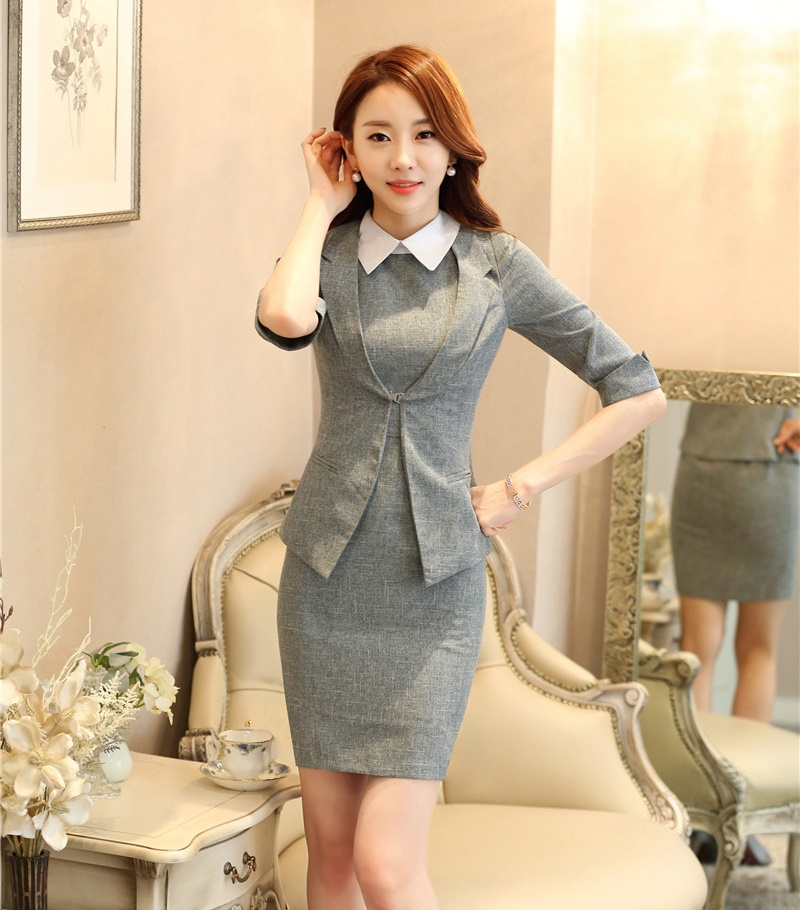 Popular Ladies Suits Formal Set A Blazer and A Dress-Buy Cheap