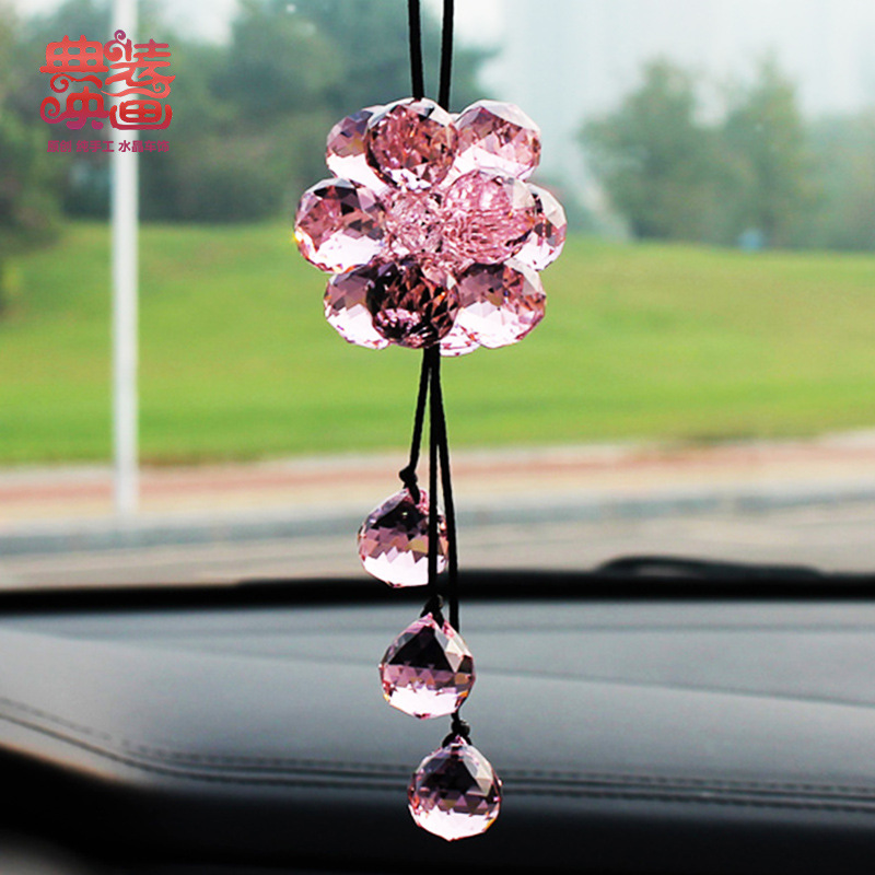 Code access to safe vehicle mounted Movie trailers car interior decoration supplies lucky ball pendant pink(China (Mainland))