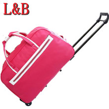 Business Wheel Luggage Metal Trolley Bags Women's Travel Bag Hand Unisex Large Capacity Suitcase Sac Board Chassis - LOVE BAGS ZERO store