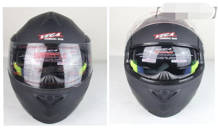 US VEGA full helmet sectional dual lens motorcycle helmet full helmet sectional helmets.(China (Mainland))