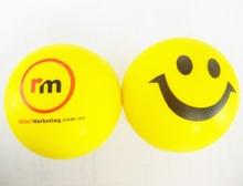 OEM 6.3cm dia custom logo pu material smiley face stress ball, anti stress ball,in printing your logo 50pcs/lot(China (Mainland))