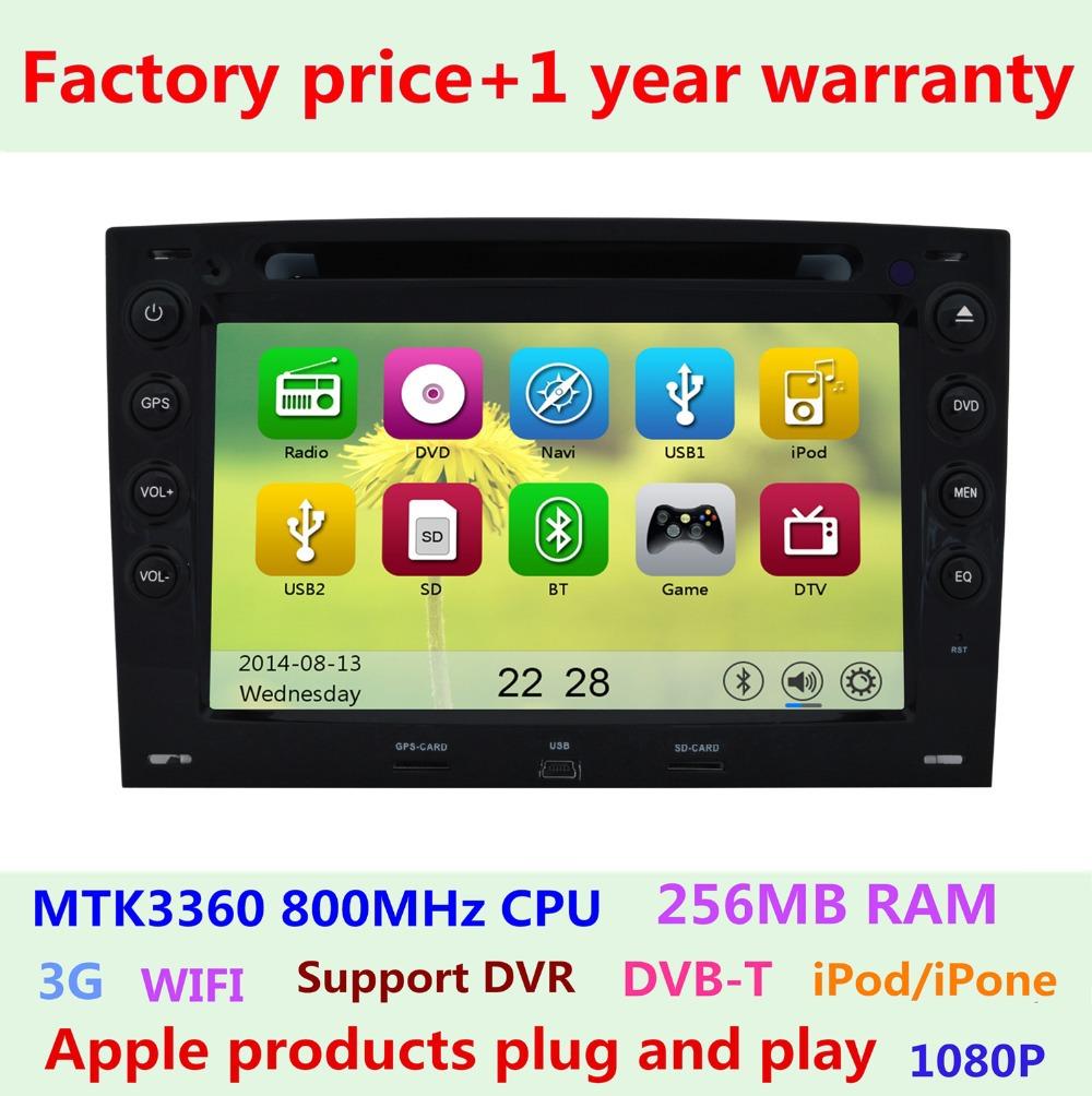 Factory price Touch Screen Car DVD Player Renault Megane ii 2 2003 2004 2005 2006 2007 2008 Radio BT Ipod 3G WIFI GPS Navigation(China (Mainland))
