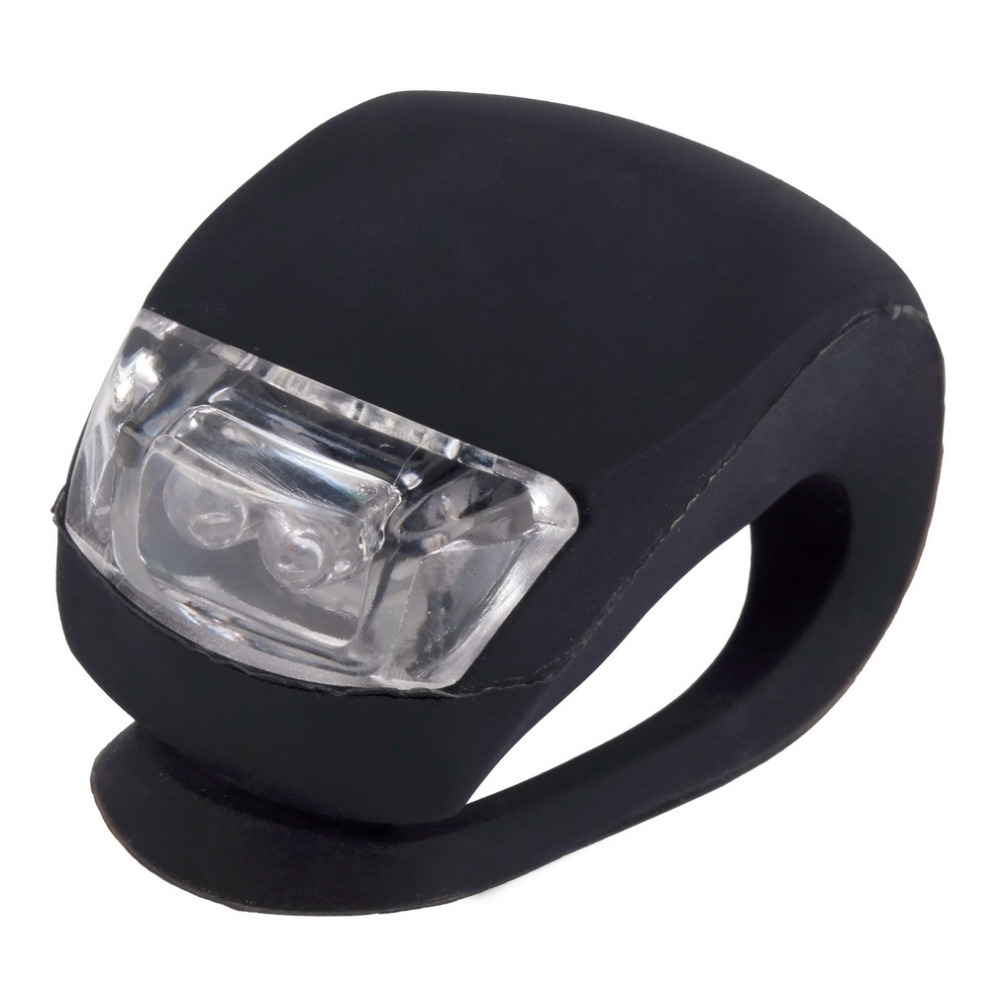 High Quality LED Bicycle Bike Cycling Silicone Head Front Rear Wheel Safety Light Lamp Wholesale(China (Mainland))