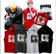 exo kpop hoodie EXO / XOXO / KISS & HUG / WOLF 88 / sleeveless / hoodie Fight song clothes kpop coat clothes