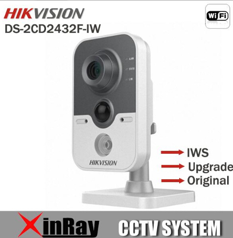 Free Shipping Original Hikvision English Version DS-2CD2432F-IW Wireless wifi ip camera 3MP Cube mini ip camera poe 1080P SD(China (Mainland))