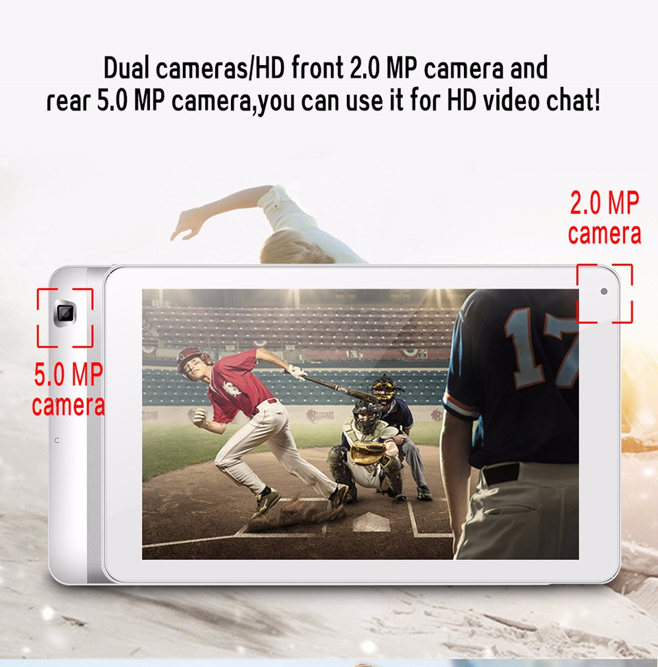 10 inch 3G Calling Tablet PC Aoson M106TG Android 5.1 Silver Tablette Dual Cameras SIM Card Slot Wifi Bluetooth (3)