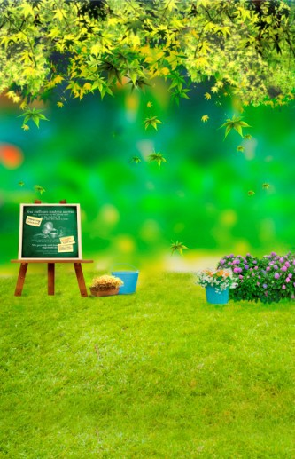 300CM*200CM(10ft*6.5ft ) Spring scenic green lawn drawing board stand backdrops photography props background studio 2280(China (Mainland))