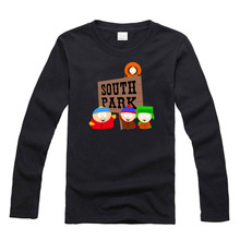 south park Stan Kyle Kenny Cartman couple clothes woman sports long sleeve T-shirt(China (Mainland))