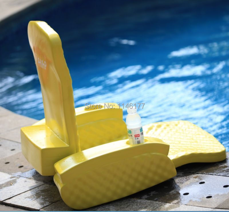 Swimming Yellow Bean Bag Bed Water fun outdoor hot spring water aqua loungers folding bed recliner chair factory(China (Mainland))