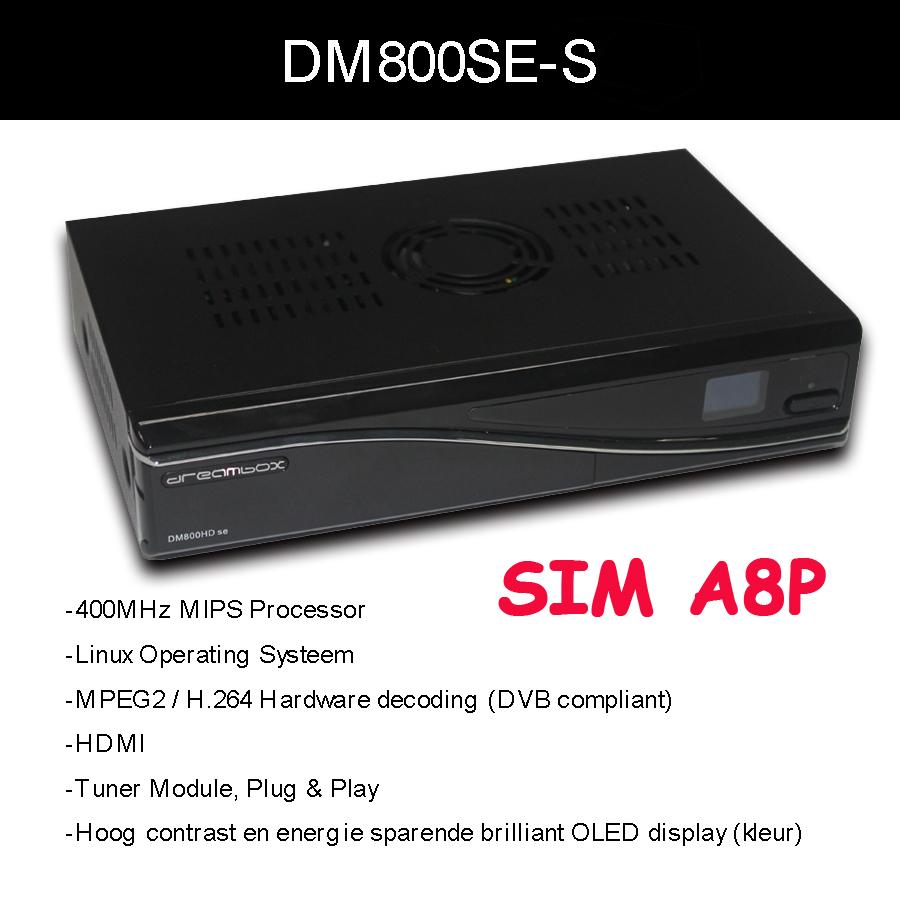 dm800HD se with Original SIM A8P Card Linux TV API dm800se DVB-S satellite receiver europe DHL free shipping(China (Mainland))