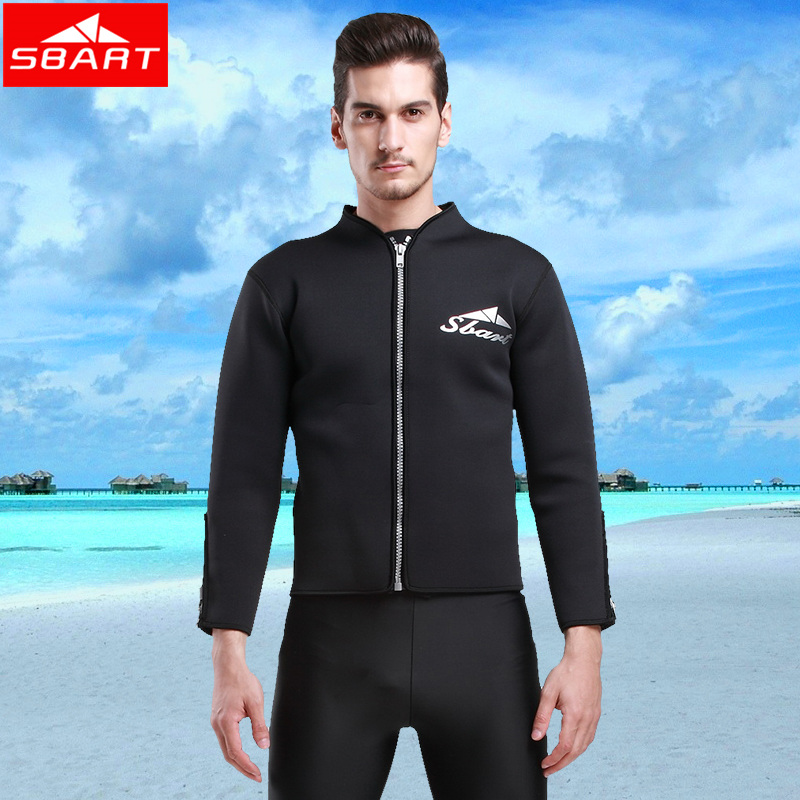 SBART 3MM Neoprene Wetsuit Top Long Sleeve Neoprene Jacket For Diving Surfing Swimming Clothes M XXL Keep Warm High Quality N970(China (Mainland))