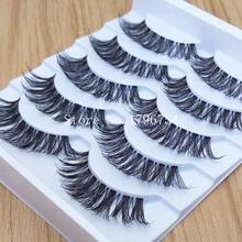 Thick False Eyelashes Messy Cross Thick Natural Fake Eye Lashes Professional Makeup Tips Bigeye Makeup Tool Long False EyeLashes(China (Mainland))