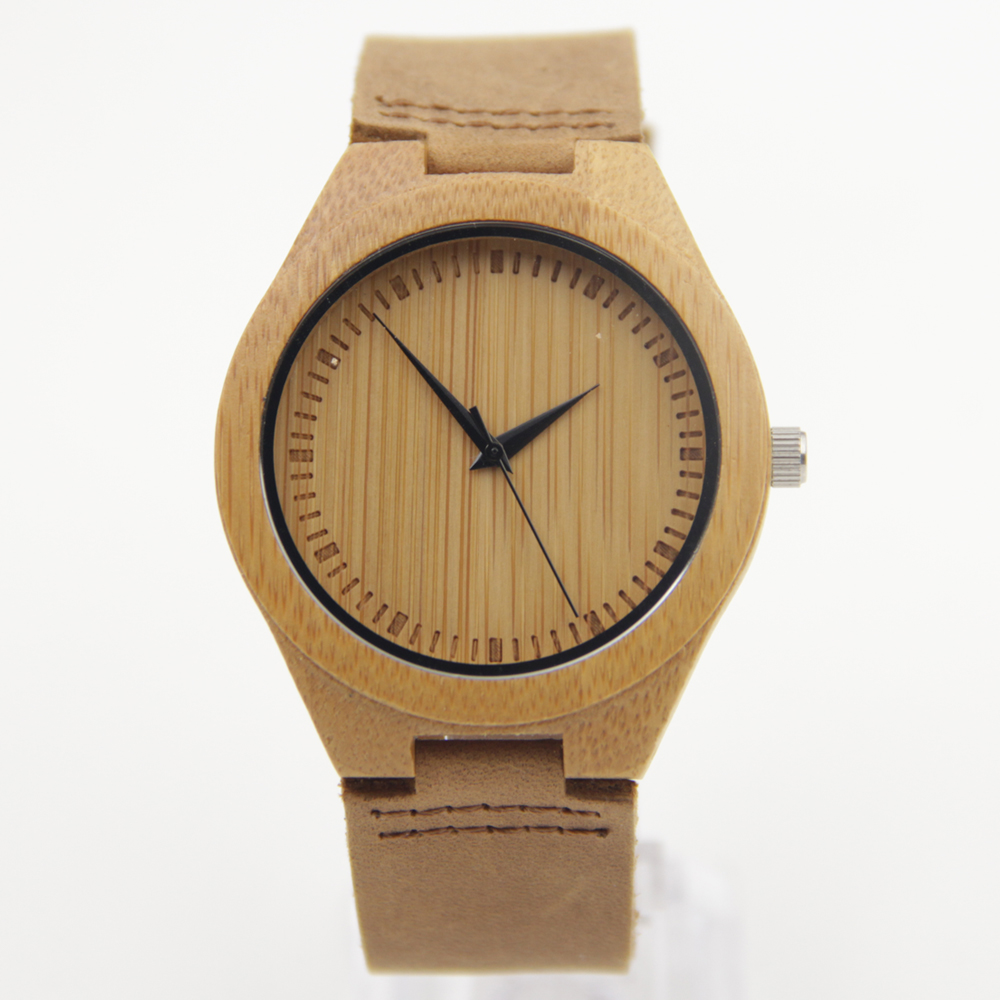 New arrival japanese miyota 2035 movement wristwatches genuine leather bamboo wooden watches for men and women christmas Gifts<br><br>Aliexpress