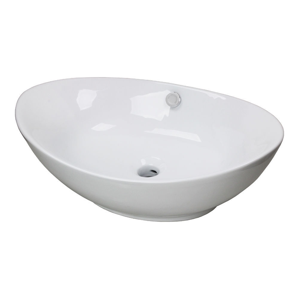 Porcelain Vessel Sinks Bathroom : NEW-Egg-Porcelain-Ceramic-Bathroom-Vessel-Vanity-Sink-Basin-Faucet ...