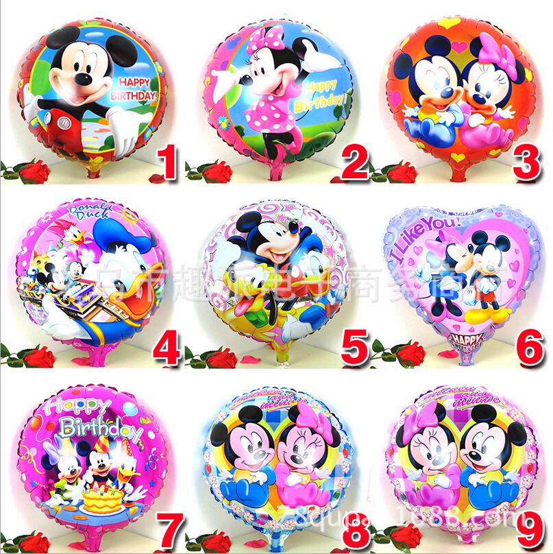 1pcs 18inch mickey minnie mouse print foil helium ballon baby shower birthday christmas party decoration balloon child kids toy(China (Mainland))