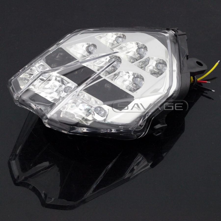 Фотография For Triumph Daytona 675/R / Speed Triple 675 2013-2016 Motorcycle Integrated LED Tail Light Turn signal Blinker Lamp Clear