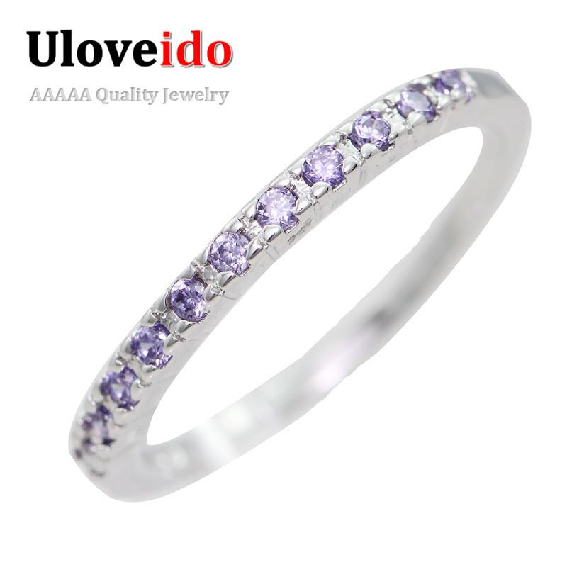 Aliexpress Buy 50% off Wedding Rings for Women Purple Red Crystal Ameth