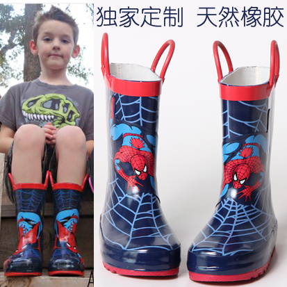 2015 Summer style Kids rain boots boys slip-resistant waterproof rubber shoes children thermal water shoes plus velvet boots(China (Mainland))