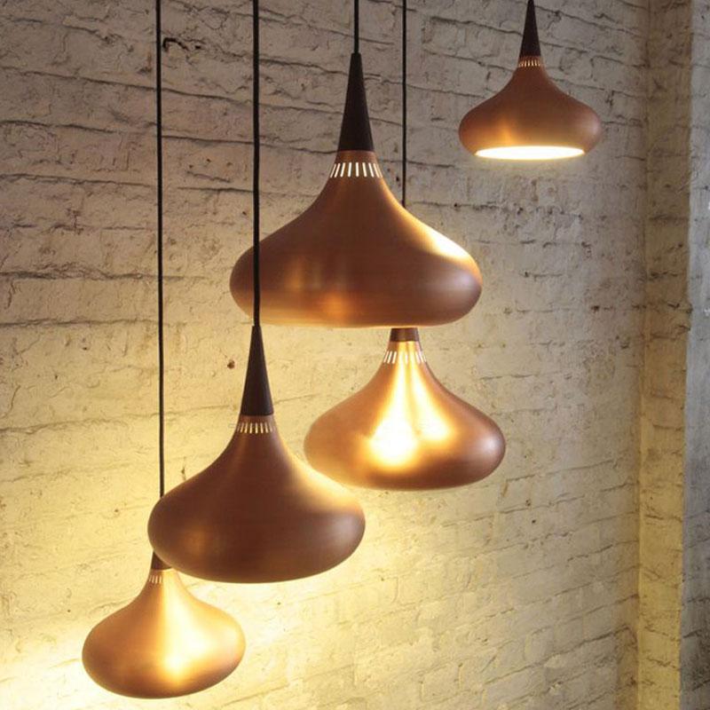 2016 NEW lamps pendant lights design Wood and aluminum lamp restaurant bar coffee dining room LED hanging light fixture(China (Mainland))