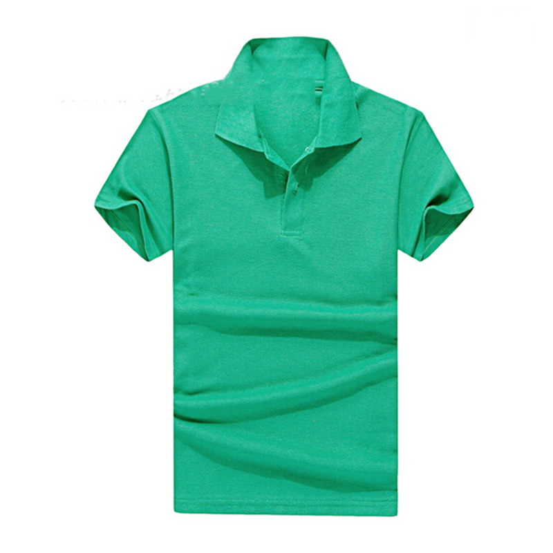 Hot Selling Solid Polo Shirt T-shirt Men and Women Unisex Short Sleeve T-shirt Lapel Nightwear T-shirt Advertising Clothing(China (Mainland))