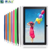 Irulu eXpro 7 '' Tablet PC Android 4.4 16 GB ROM Quad Core 1024 * 600 HD cámaras duales 3 G WIFI externa Tablet w / teclado nuevo caliente(China (Mainland))