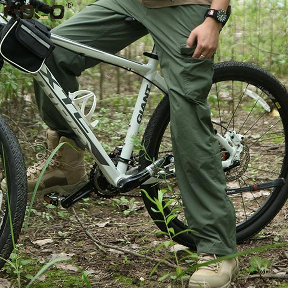mens nylon cargo pants - Pi Pants