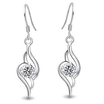 100% Sterling Silver Jewelry Female Models Angel Love Drop Earrings Sterling Silver Earrings Top Quality!!