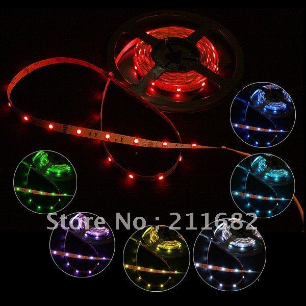 Flexible RGB Multi-color Led strip light DC 12V 150 LEDs 7.2 W/M Non-Waterproof SMD 5050 led Light Strip 5M/roll,free shipping<br><br>Aliexpress