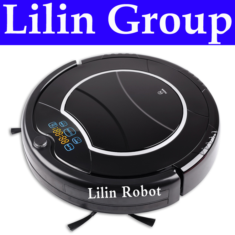 Robot Vacuum Cleaner , Two Side Brushes,LED Touch Screen.with Tone,HEPA Filter,Schedule,Remote Control, Virtual Wall,Auto Charge(China (Mainland))