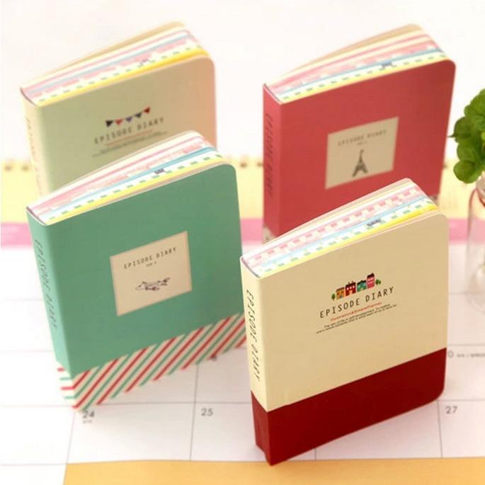 """Mini Episode"" Mini Diary Planner Cute Pocket Journal School Study Notebook Korean Agenda Notepad Free Memo Note Gift(China (Mainland))"