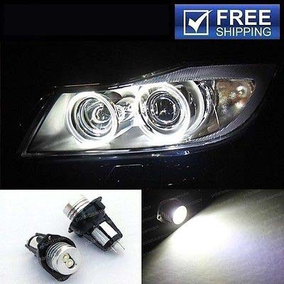 2x 6W white/blue/red LED Angel Eye Halo Ring Marker Light Replacement Bulb Upgrade kit for 06-08 E90/E91(325 320 328 330 335 M3)(China (Mainland))