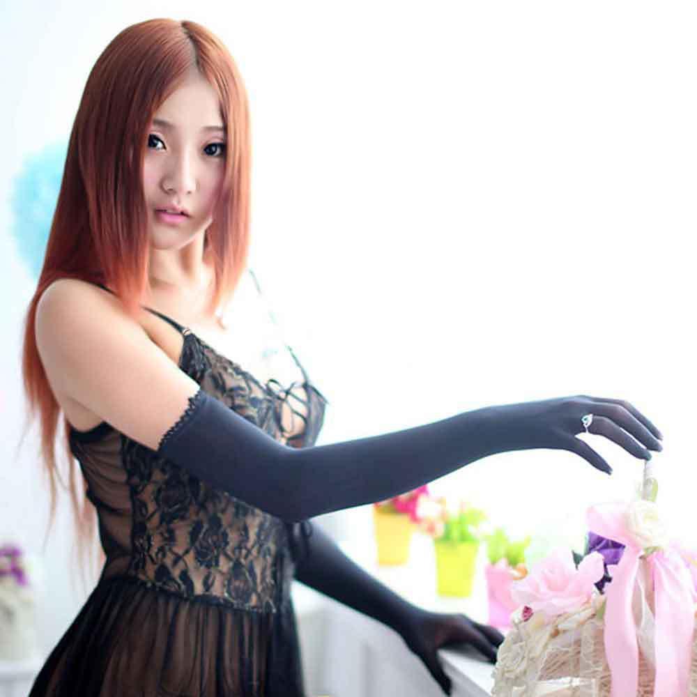 Sexy Nylon Lace Seamless Pantyhose Women Gloves Mitten Colour Women Temptation Night Gloves Mittens