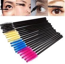 50PCS/BAG Multi-color Disposable Eyelash Extension Brush Mascara Wands Applicator Makeup Cosmetic Tool