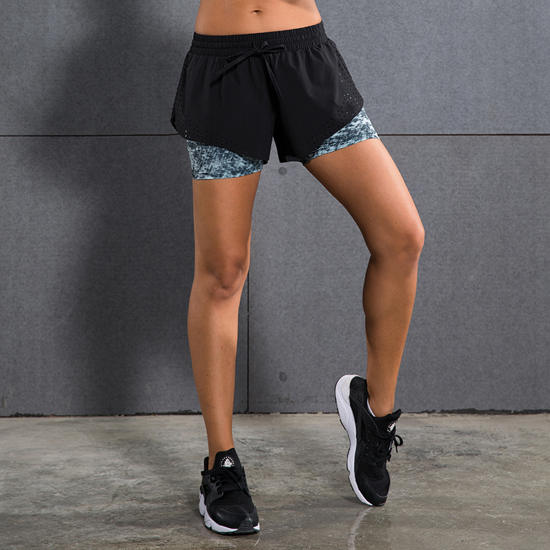 Women sports yoga shorts fitness exercise gym boxers running Run jogging soccer basketball shorts compression inter linning(China (Mainland))