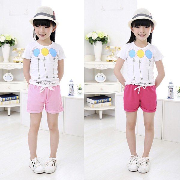 2015 Summer Boys Girls Shorts Candy Color Cotton Shorts For Children Kids Beach Casual Pants Sports Pants