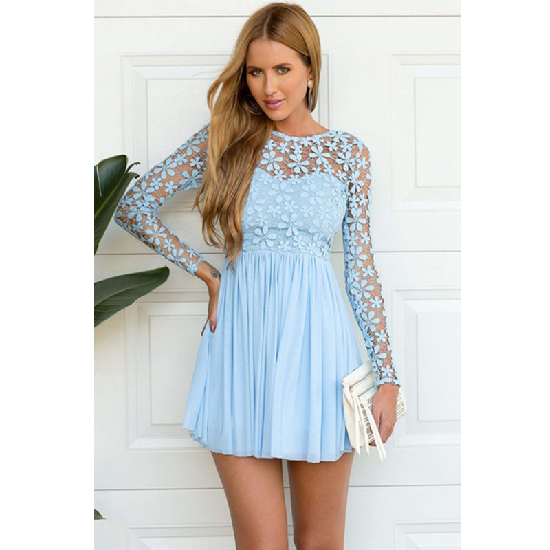 Cute long lace dresses - Best dress image