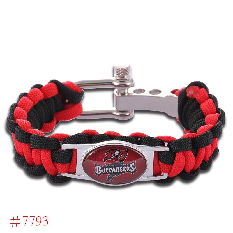 NFL Tampa Bay Buccaneers Paracord Bracelet Adjustable Survival Bracelet Football Bracelet , Drop Shipping! 6Pcs/lot!(China (Mainland))