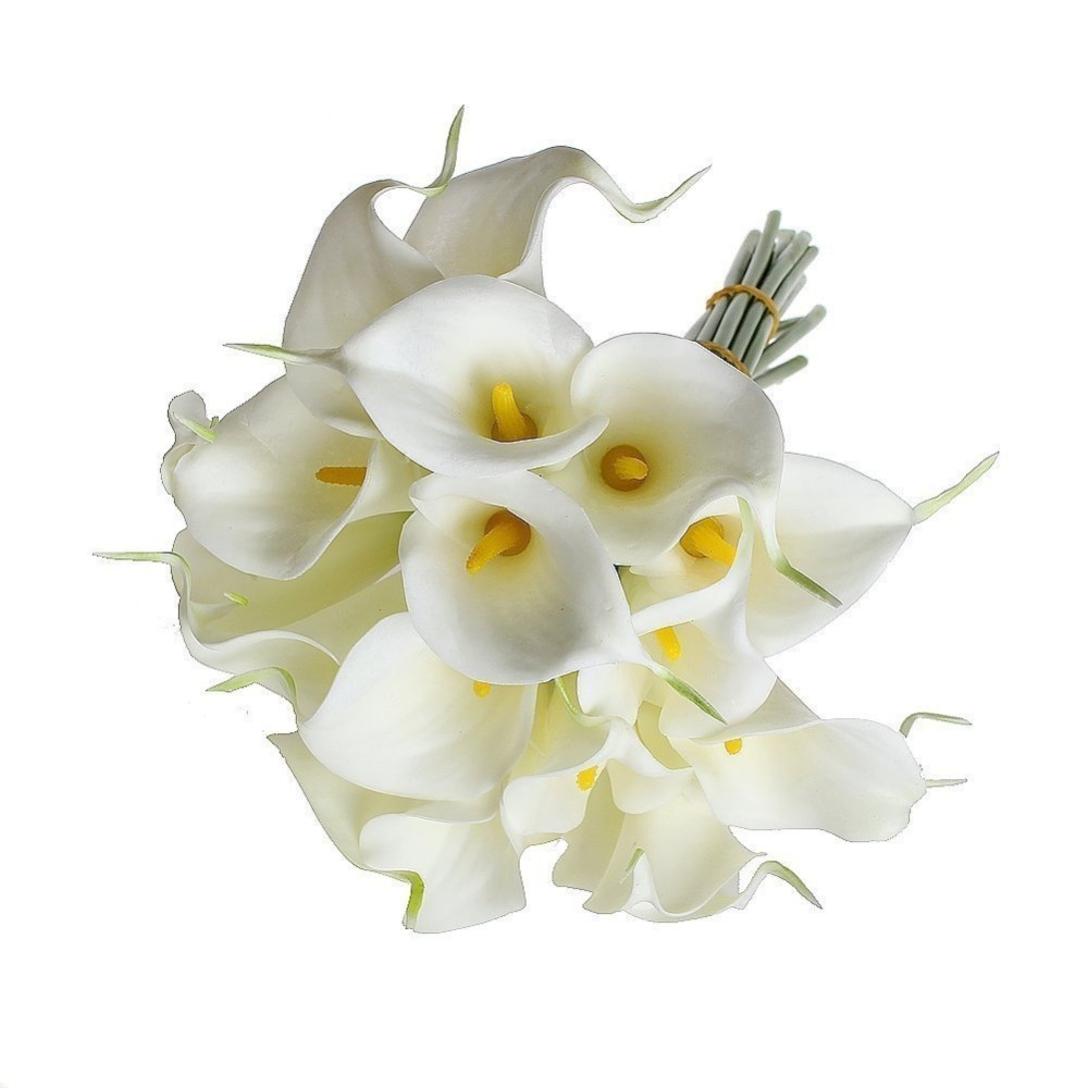 Bridal Real Flower Bouquets : Calla lily bridal wedding bouquet latex real touch