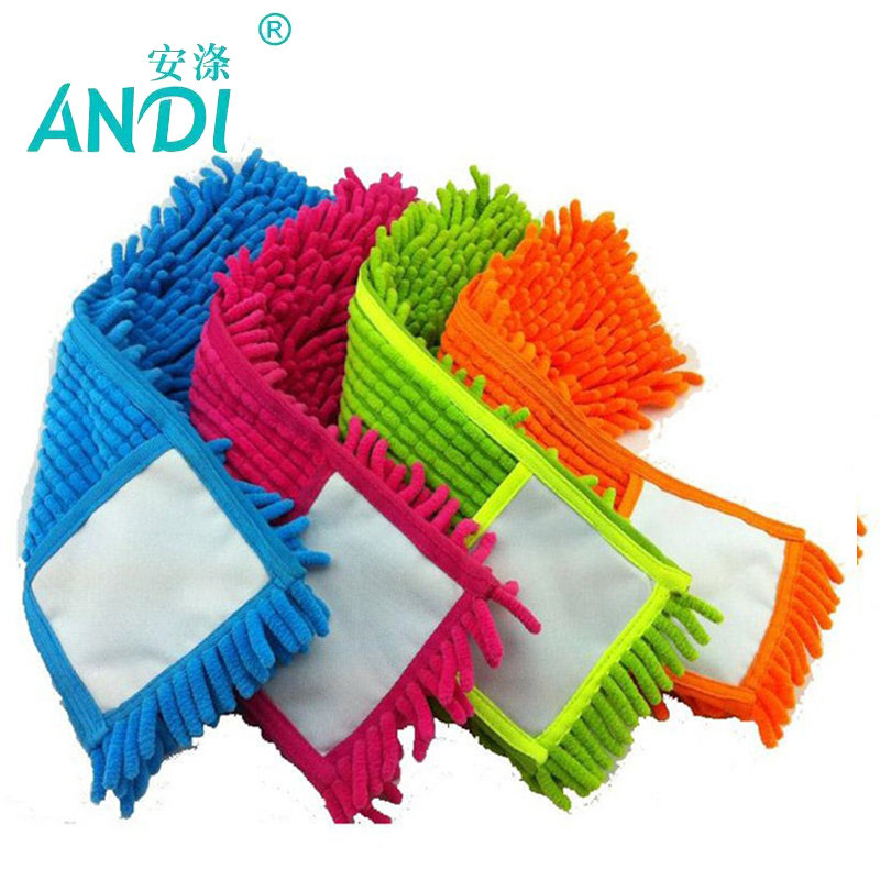 ANDI 4 pcs Replacement pad for flat mop,mops floor cleaning pad,chenille flat mop head replacement refill,head to floor mops(China (Mainland))