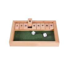 Traditional entertainment toys Bar drinking games Wooden Shut the box set(China (Mainland))