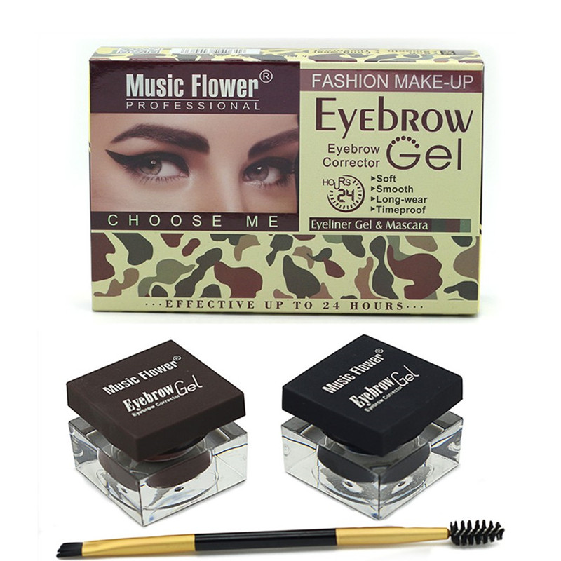 2015 novos da marca de cosméticos Multifunction sobrancelha Kit de maquiagem Eye Brow Gel & Eyeliner Gel & Mascara Eye Liner Make Up definir um