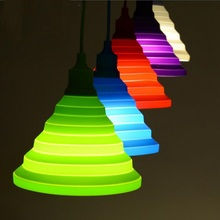 Nuevo color del caramelo de silicona soporte de la lámpara Shades DIY creativo iluminación de interior E27 luz colgante con 90 CM techo cable de Base(China (Mainland))