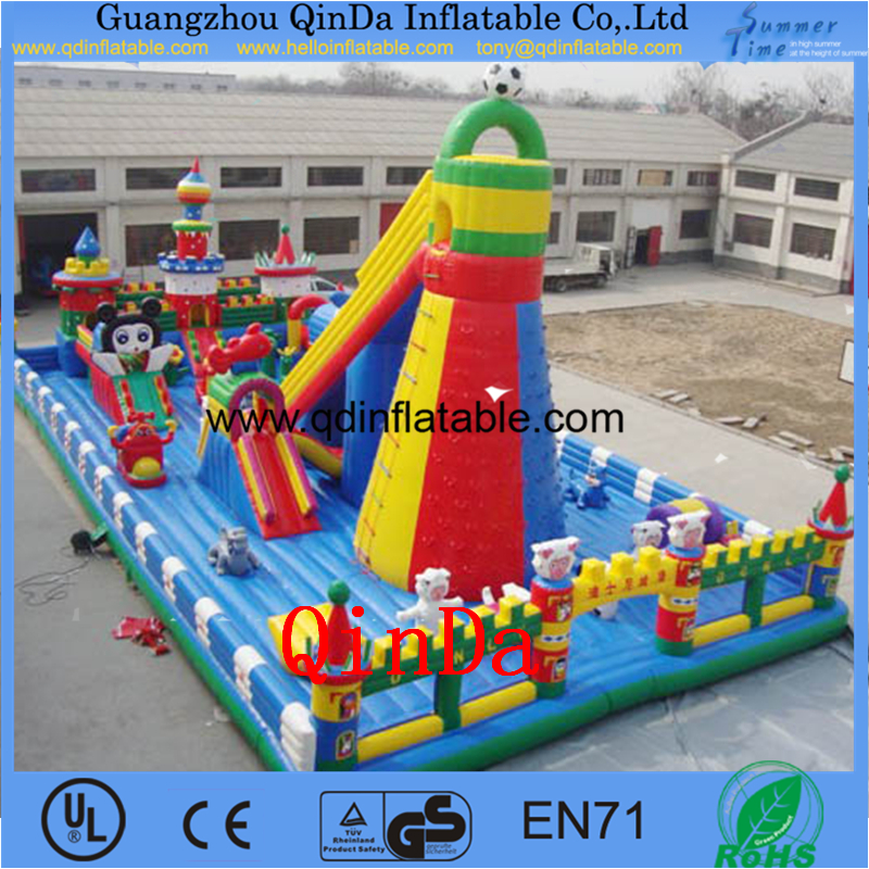 Inflatable Castle Slide, Inflatable Bouncer for Kids Game China hotsale kids inflatable playground/big play area(China (Mainland))