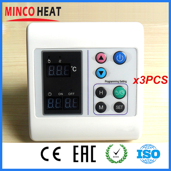 Adjustable Underfloor Programmable Room Thermostat (3PCS)<br><br>Aliexpress