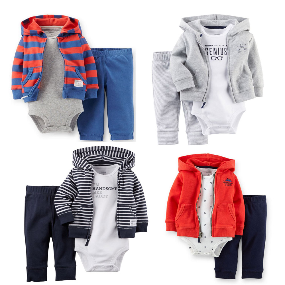 Гаджет  2015 bebe original Carters  baby set boys hooded cardigan set crankcase baby spring autumn clothing set retail None Детские товары