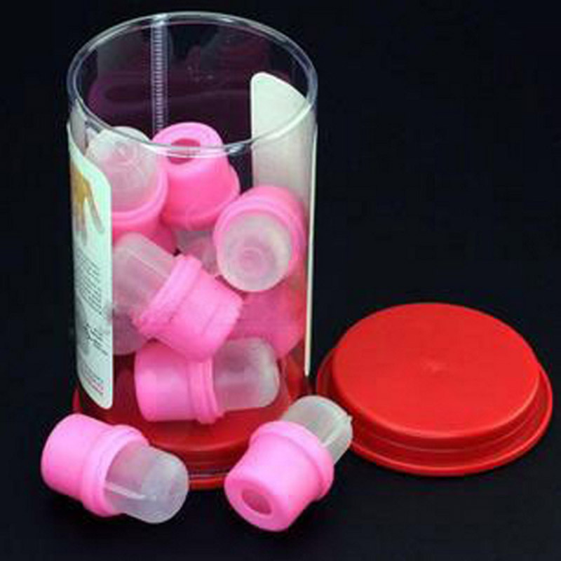 10PCS/Lot Pink Rubber Material Nail Art Polish Remover Gel Nail Soak off Cap Clip UV Cleaner Nails Wipe Cleanser(China (Mainland))
