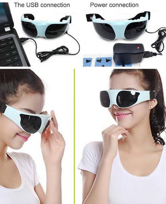 HOT! USB DC Eye massage device eye massage instrument eye protection instrument Go black eye Anti myopia 3 types of power supply(China (Mainland))