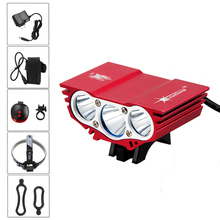 Buy 10000lm 3* XML T6 LED Red Bicycle Lamp Bike Light Led Flashlight Torch Headlight Battery Set for $23.54 in AliExpress store